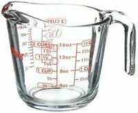 Anchor Hocking Open Handle 16oz/ 2 Cup Glass Measuring Cup w/ Red Letter USA