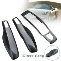 3X Gloss Grey Remote Smart Key Case Fob Cover For Porsche Panamera Macan Cayman