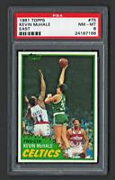 1981 TOPPS BASKETBALL #75 KEVIN McHALE ROOKIE PSA 8 NM-MT BOSTON CELTICS HOF