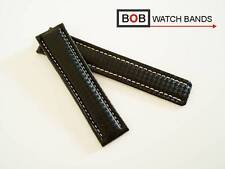 - Bob carbon 22-20 mm echtlederuhrband compatible sólo con breitlingfaltschließe
