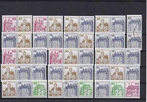 Briefmarken Lot Berlin Zusammendrucke Zdr. gestempelt  und postfrisch