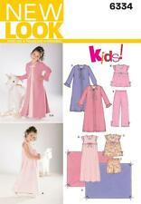NEW Look da cucire modello bambino NIGHTGOWN, PAJAMAS, ROBE & aperto 3 - 8 6334
