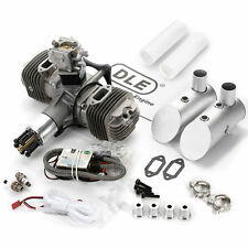 Genuine DLE120 120cc Twin Cylinders Gas Engine+CDI Ignition&Muffler for RC Plane