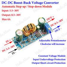 4A DC-DC Boost Buck Step Up Down Adjustable Converter 6-30V to 1-30V 5V 12V 24V