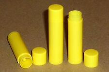 100 NEW Empty Bright Yellow LIP BALM Chapstick Tubes Containers - .15 oz / 5ml