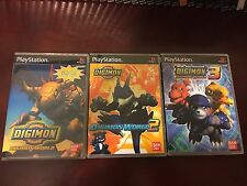 Digimon World 1-3 (Sony PlayStation) Empty Replacement Case PS1 PS2 PS3 No Games
