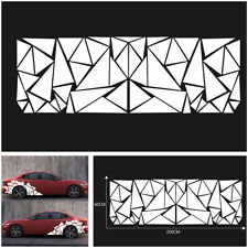 Personalized Car Body Side Sticker Freestanding White Triangle Graphics 200x60cm