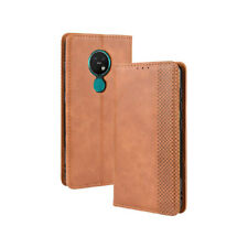 Case For Nokia 7.2 Leather Wallet Flip Cover Folio Card Slots Kickstand PU Brown
