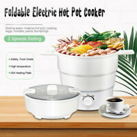 Foldable Electric Silicone Hot Pot Cooker Travel Boiling Water Steamer Multi-Fun