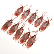 10x Plastic Fake Cockroach Roach Toy Prank Trick Joke Special Lifelike NISU