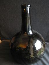 Grosse bouteille ( où petite bonbonne ) XVIIIème , col assez haut , pontil