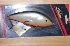 "salmo fatso 14 sinking lure grey gray silver musky pike 5 1/2"" 3 3/4oz  jerkbait"