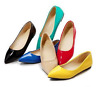 Women Candy Color Patent Leather Pointy Toe Flats Casual Shoes Size Loafers E673