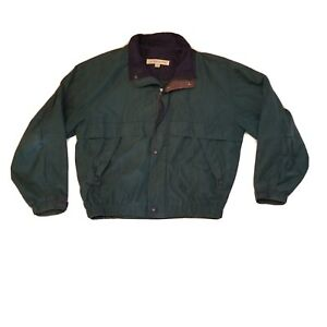 London Fog Green Full Zip And button Up Jacket Vintage Size M #E