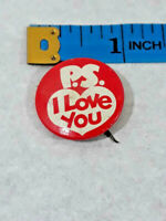 Vintage Rexall Drug Company ~ PS I Love You ~ Pin Pinback Button ~ Ships FREE