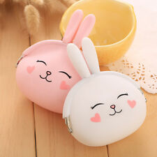 Mini Kawaii Wallet Women Girl Gift Cartoon Rabbit Silicone Coin Purse Holder Bag