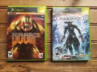 Lot of 2 Games XBOX / Doom 3 & Darkwatch for Microsoft Xbox