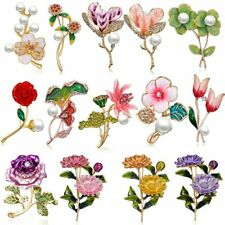 2019 Daisy Rose Sunflower Flower Brooch Pin Pearl Enamel Wedding Bridal Jewelry