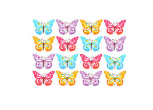 Butterflies Butterfly x24  cupcake toppers edible RICE PAPER Size W4.5cm x  H3.5