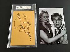 Sandy Dennis Signed Album Page PSA DNA Authenticated Autograph RARE Actress