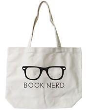 Book Nerd Canvas Tote Bag - 100% Cotton Eco Bag, Shopping Bag, Book Bag