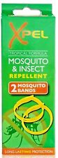 2 x Xpel Adult Mosquito & Insect Bug Repellent Wrist Bands Protection Bracelets