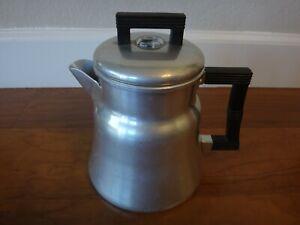 Vintage WEAR-EVER Aluminum Stove Top 6 Cup Coffee Pot Percolator #3006 USA