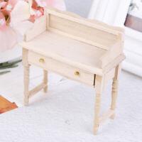1/12 Miniature Mini Desk Table Set Furniture DIY Dollhouse Room Accessory Toy YK