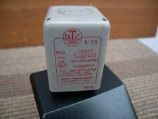 1x UTC input transformer A-36 with tested good condition. U.S.A.