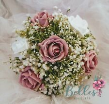 Bridesmaids Gypsophila Rose wedding Bouquet many colours