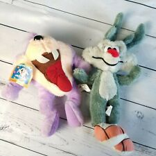 Tiny Toons Vintage Plush Lot 1990s Dizzy Devil Wylie E Coyote