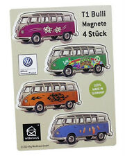 Custom Graphics Volkswagen Split Screen Deluxe Bus Set of 4 Magnets -German Made