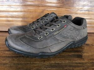 Mens Ecco Casual Walking Shoes Size EU 43 US 10 Brown Leather