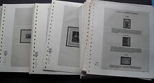 Albenblätter Lindner 100 Stück mit 3 Taschen für Marken, MH, Randstücke T-Blanko