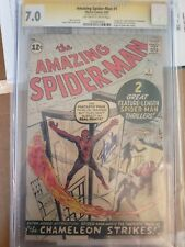 AMAZING SPIDER-MAN #1 CGC SS 7.0 SIGNED STAN LEE ASM 1ST SPIDERMAN ISSUE 1963