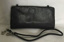 LILY ROSE Black Leather Wallet/Shoulder Bag / Handbag
