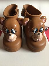 Water Boots Kids | mini Melissa |size US 3 | color brown| Monkey