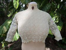 Antique Wearable Edwardian Irish Crochet Blouse C.1909-1915 Victorian