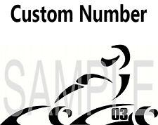 Go kart racing decal sticker car vinyl custom number cart shifter emmick crg