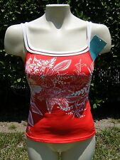 Profile by Gottex Womens 8 Swimsuit Tankini Top Red White Floral NWT802950385844