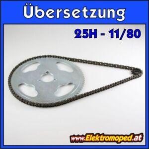 Ersatzteil Elektro-Scooter Übersetzung 11/80 25H dünne Kette Bergübersetzung ber