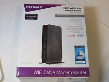 Netgear Router C3000-100NAS N300 WiFi Cbale Modem Router 802.11n Gigabit NIB