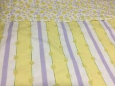 POTTERY BARN KIDS GIRLS Reversible Yellow Lavender Sunflower/Stripe TWIN DUVET
