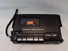 Vintage Sanyo Desktop Cassette Tape Player Recorder M5000 w/Case Black EUC