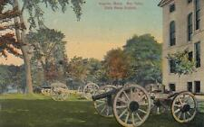 Antique POSTCARD c1914 War Relics State House Grounds AUGUSTA, ME 18770