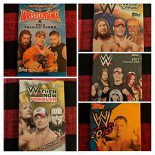 WWE! LOT OF 5 TRADING CARDS. 1 SET JOHN CENA TRIBUTE! + 2016 Road 2 Wrestlemania