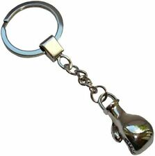 Bassin and Brown Unisex Boxing Glove Key Ring - Silver