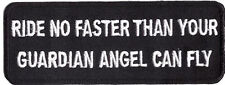 RIDE NO FASTER YOUR ANGEL FLY  IRON ON 4.0 inch Funny MC BIKER PATCH
