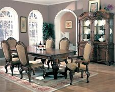 Saint Charles Traditional Cherry 7 Piece Formal Dining Room Pedestal Table Set