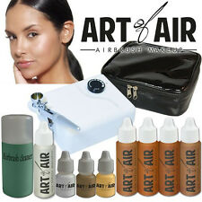 Art of Air Professional Airbrush Cosmetic Makeup System - Tan Foundation Set